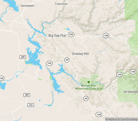 Map of Coulterville, CA