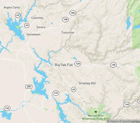 Map of Groveland, CA