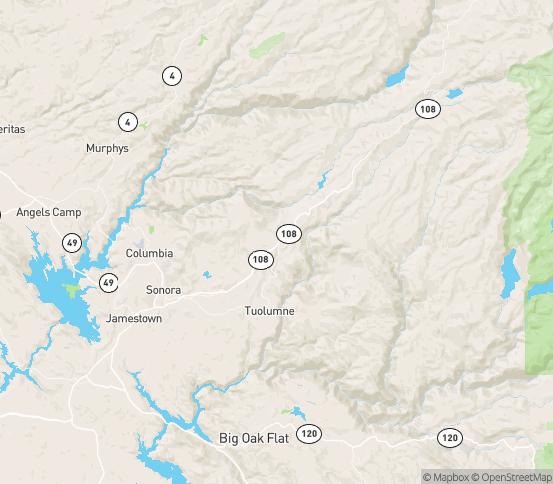 Map of Twain Harte, CA