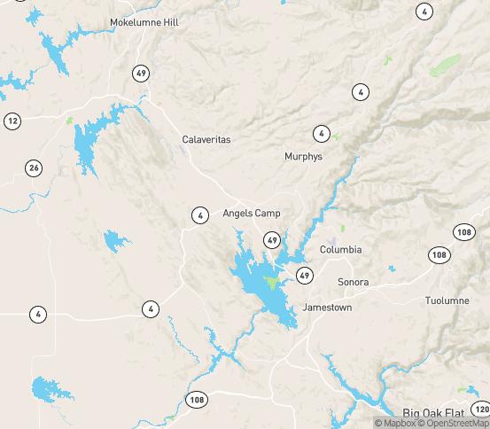 Map of Angels Camp, CA