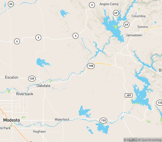 Map of Copperopolis, CA
