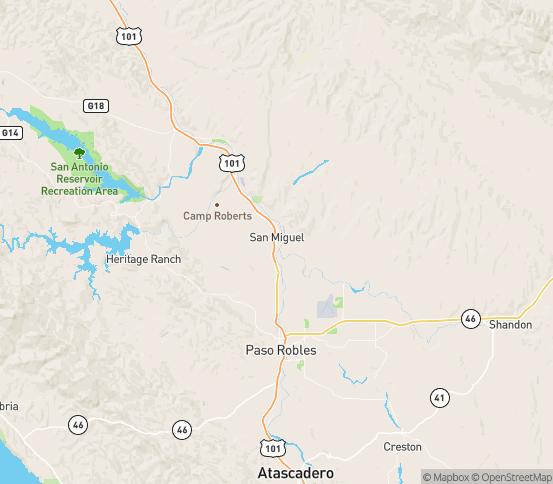 Map of San Miguel, CA
