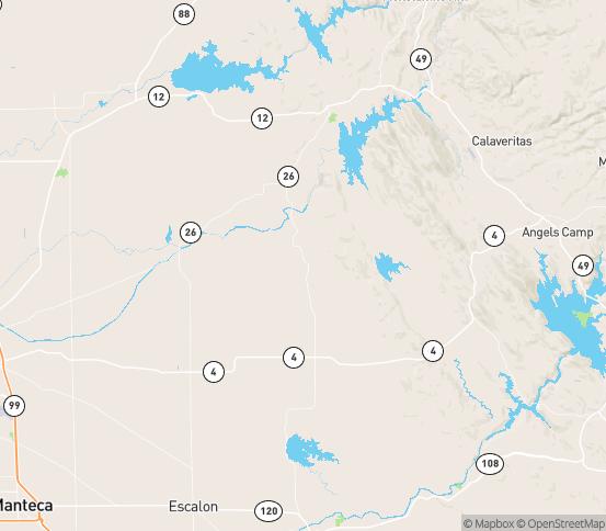 Map of Farmington, CA
