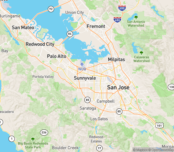 Map of Sunnyvale, CA