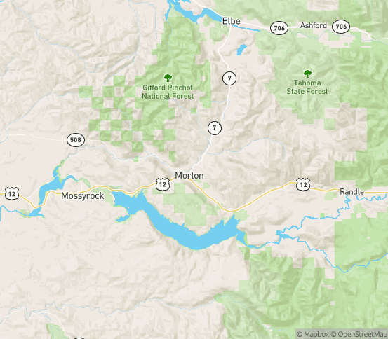Map of Morton, WA