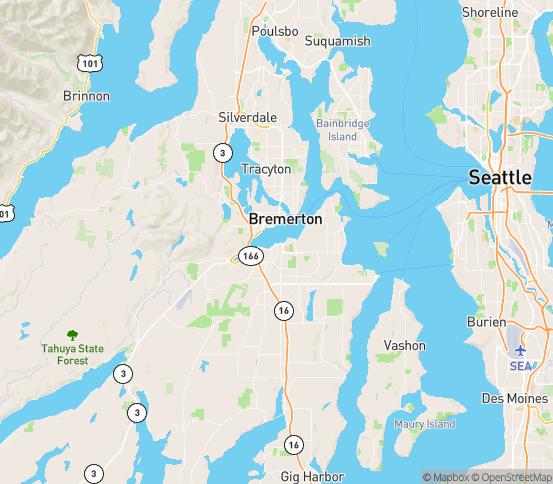Map of Pt Orchard, WA