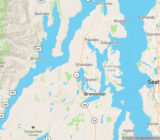 Map of Silverdale, WA