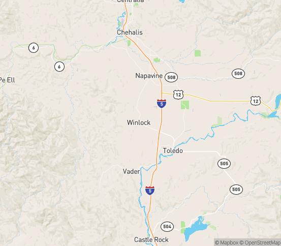 Map of Winlock, WA