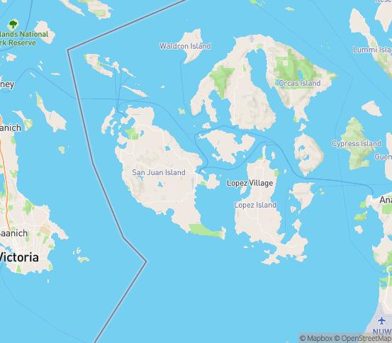Map of Friday Harbor, WA