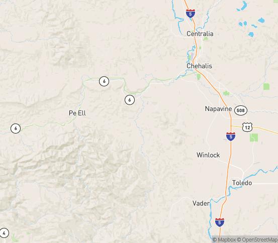 Map of Curtis, WA