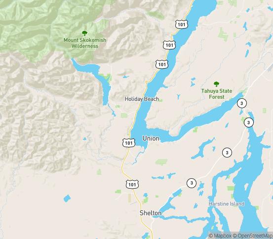 Map of Hoodsport, WA