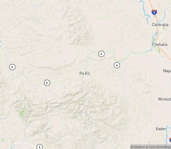 Map of Pe Ell, WA