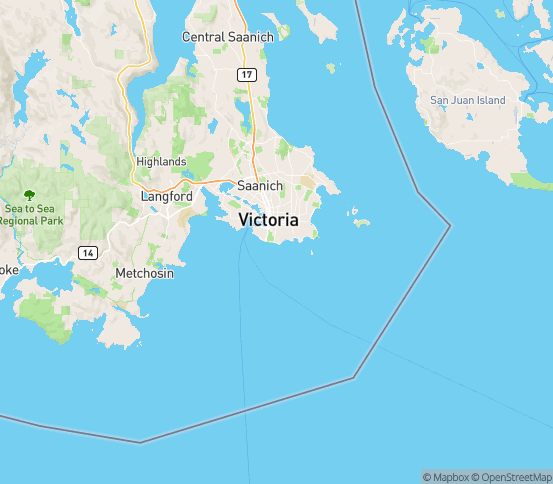 Map of Victoria, BC