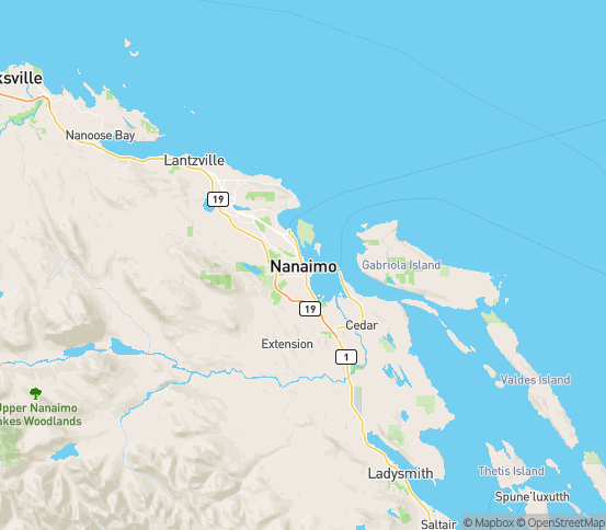 Map of Lantzville, BC