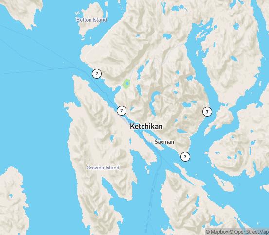 Map of Ketchikan, AK