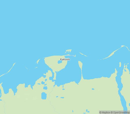 Map of Kaktovik, AK