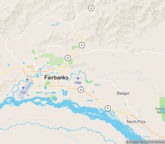 Map of Fort Wainwright, AK