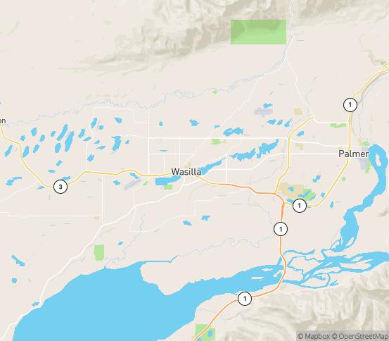 Map of Wasilla, AK
