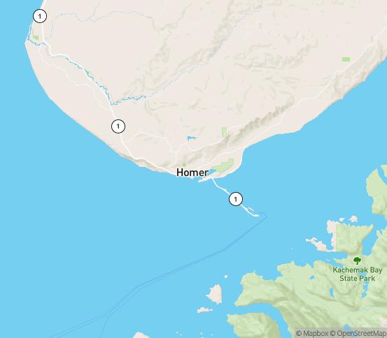 Map of Homer, AK