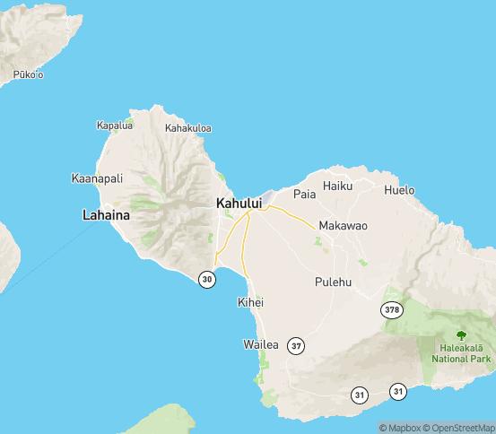 Map of Wailuku, HI