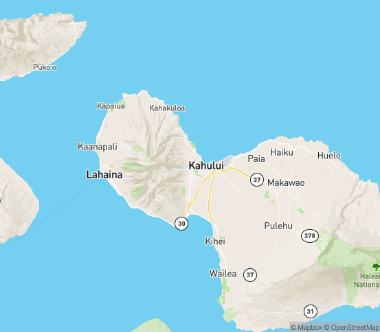 Map of Wailuku, HI