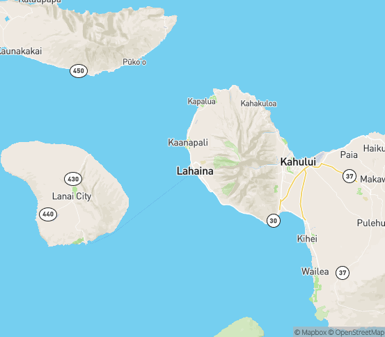 Map of Lahaina, HI