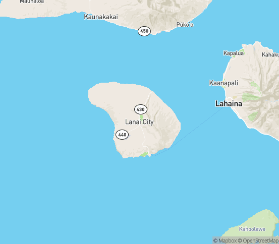 Map of Lahaina, HI