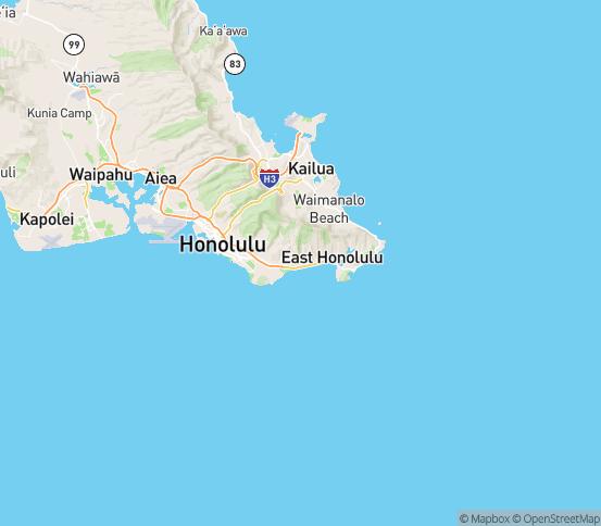 Map of Honolulu, HI