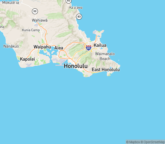 Map of Honolulu, HI