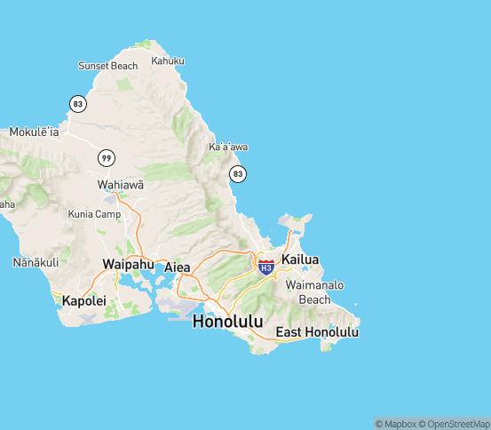 Map of Kaneohe, HI