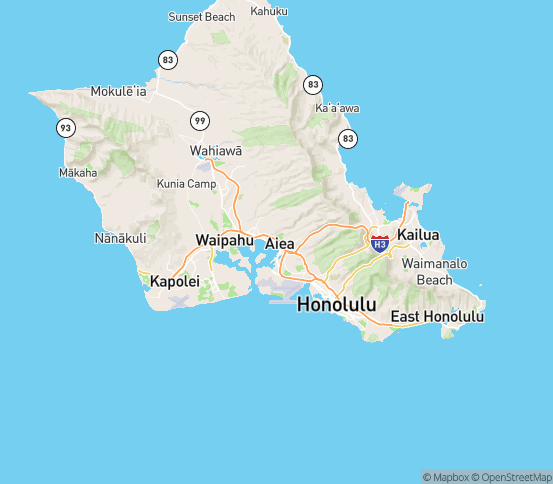Map of Aiea, HI