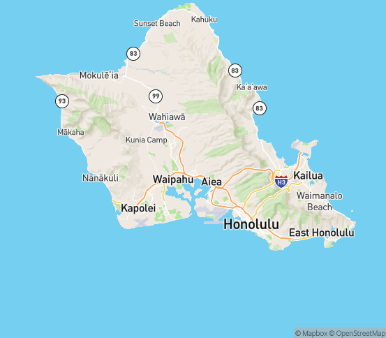 Map of Pearl City, HI