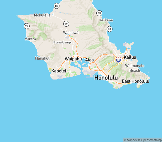 Map of Hickam Afb, HI