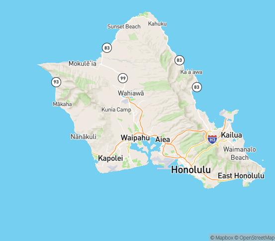 Map of Mililani, HI