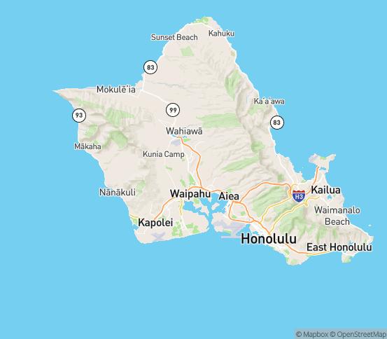 Map of Mililani, HI