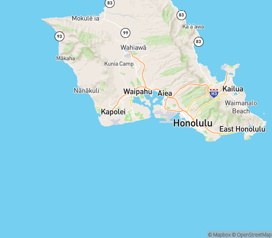 Map of Ewa Beach, HI