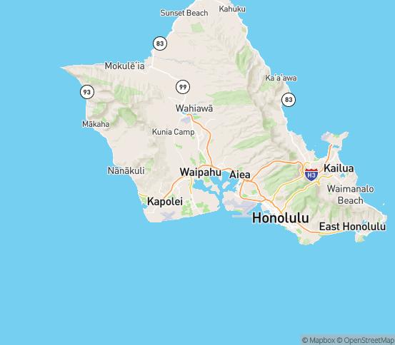 Map of Waipahu, HI