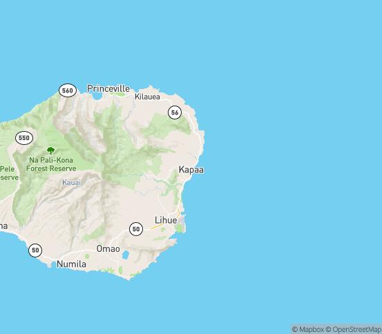 Map of Kapaa, HI
