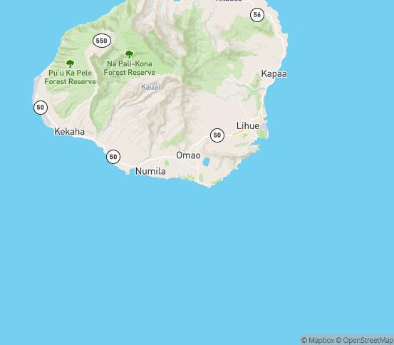 Map of Koloa, HI