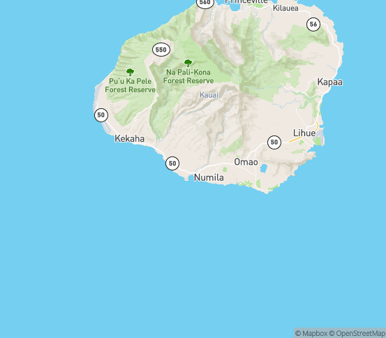 Map of Kalaheo, HI