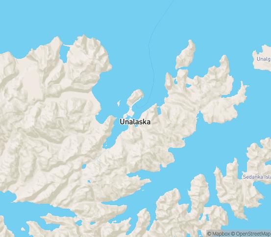 Map of Unalaska, AK