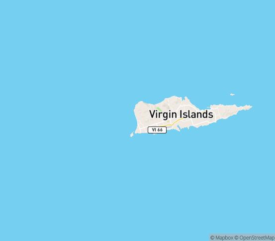 Map of St Croix, VI