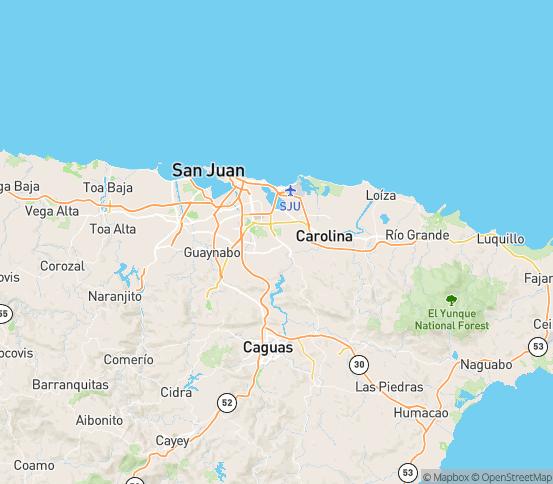 Map of Trujillo Alto, PR