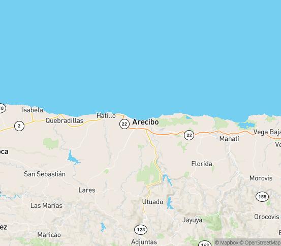 Map of Arecibo, PR