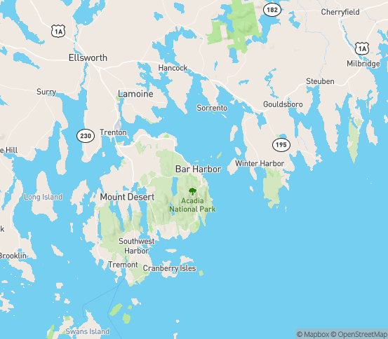 Map of Bar Harbor, ME
