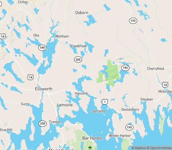 Map of Sullivan, ME