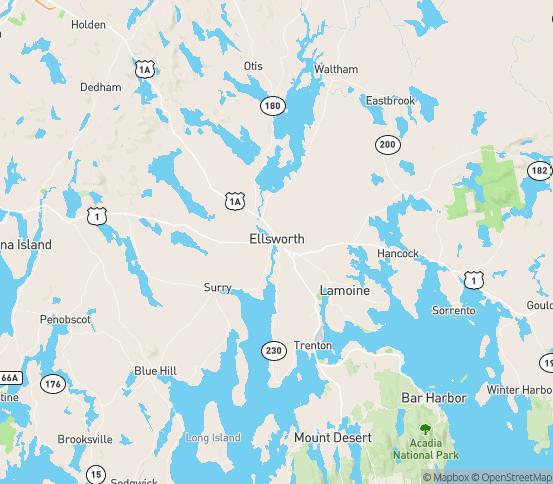 Map of Ellsworth, ME