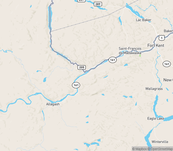Map of Fort Kent, ME