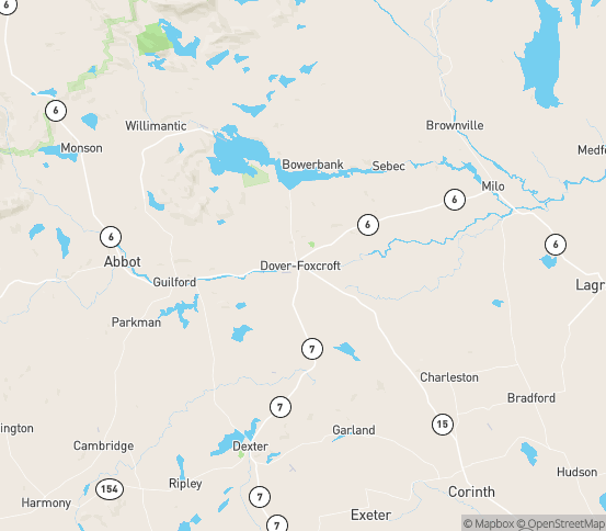 Map of Dover Foxcroft, ME