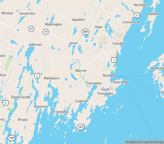Map of Warren, ME